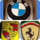 Car Emblem Birthday Cakes