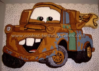 Disney's Cars Cake - Tow Mater