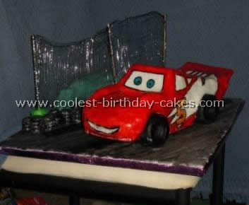 Lightning McQueen Cars Cake Decorations