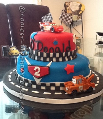 Coolest Cars 2 Cake for a 2-Year-Old Boy