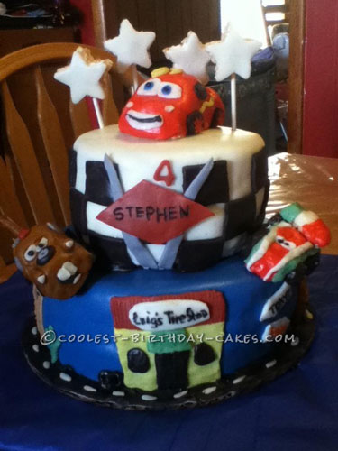 Coolest Cars Two Birthday Cake