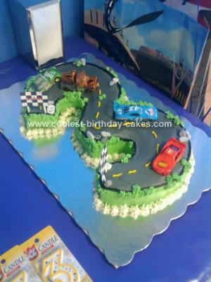 Homemade Cars Race Car Cake