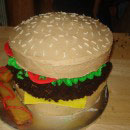 Hamburger Birthday Cakes
