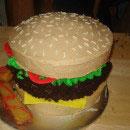 Hamburger Birthday Cakes