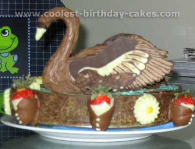 Swan Child Birthday Cake Pictures