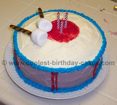 Drum-Shaped Cake