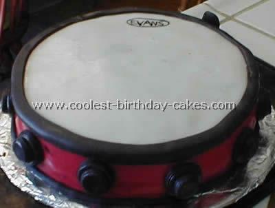 Coolest Drum Shaped Childrens Birthday Cake Photos 1