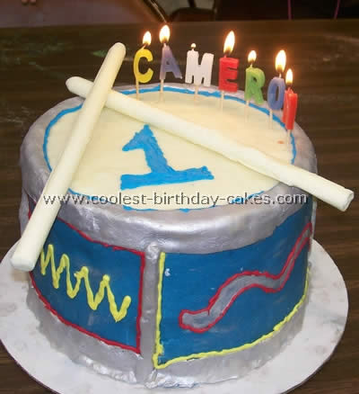 Coolest Drum Shaped Childrens Birthday Cake Photos 0