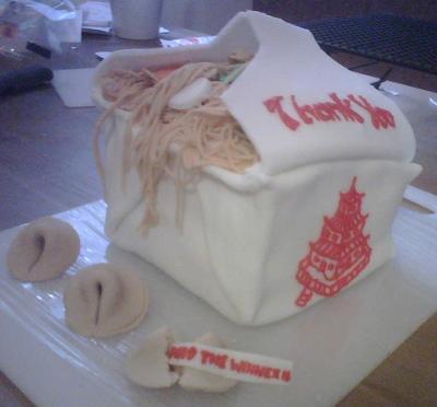 Chinese Take Out Cake