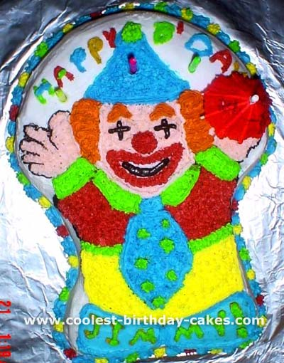 Coolest Homemade Clown Cakes