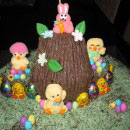 Easter Scene Birthday Cakes