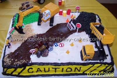 Construction Birthday Cakes