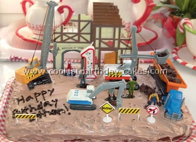 coolest construction cake photos   web s largest homemade