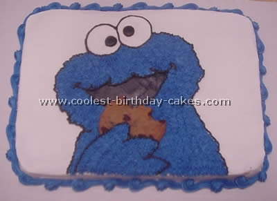 Cookie Monster Birthday Cake Photo