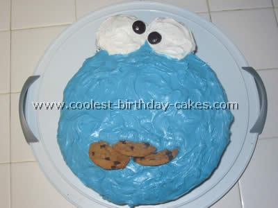 Coolest Homemade Cookie Monster Cakes
