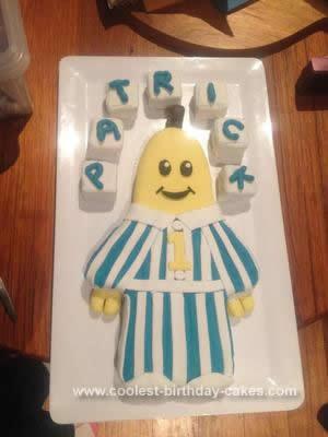 Homemade 1st Birthday Banana in Pajamas Cake