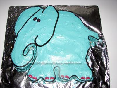 Homemade 1st Birthday Elephant Cake