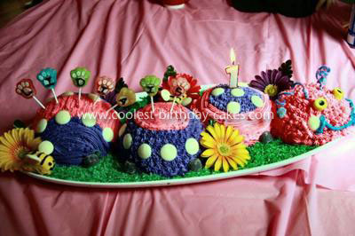 Coolest 1st Birthday Summer Caterpillar Cake