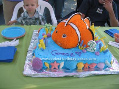 Homemade 2nd Birthday Finding Nemo Cake
