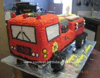 Homemade 2nd Firetruck Birthday Cake