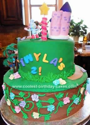 Coolest 360 Degree Dora Adventure Birthday Cake 35