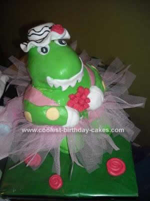Homemade 3D Dorothy the Dinosaur Cake