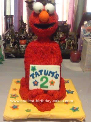 Homemade 3D Elmo Cake