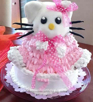 Homemade 3D Hello Kitty Cake