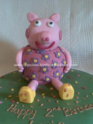 Homemade 3D Peppa Pig Birthday Cake