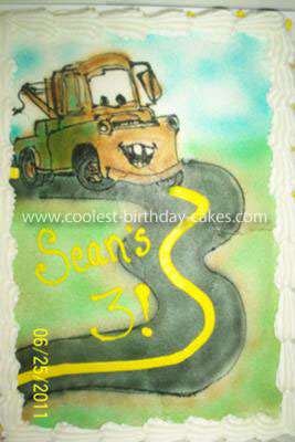 Pin Coolest Tow Mater From Cars Cake Ideas Cake on Pinterest