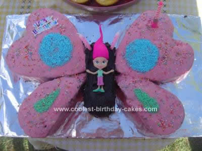 Homemade 3rd Birthday Butterfly Fairy Cake