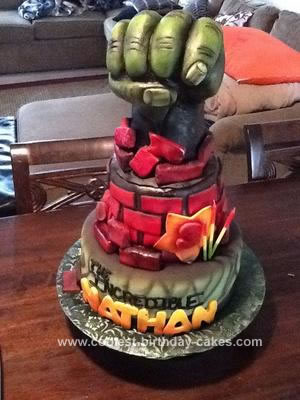 The Incredible Hulk Cake