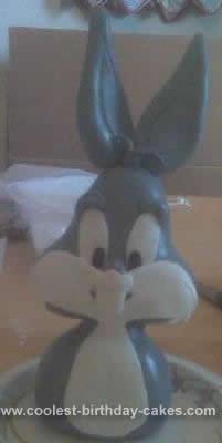 Homemade 40th Birthday Bugs Bunny Cake