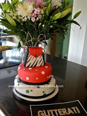 Sports Birthday Cakes on Coolest 40th Birthday Glam Cake 71