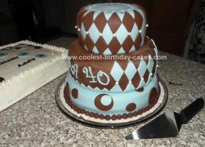 Homemade 40th Martini Cake
