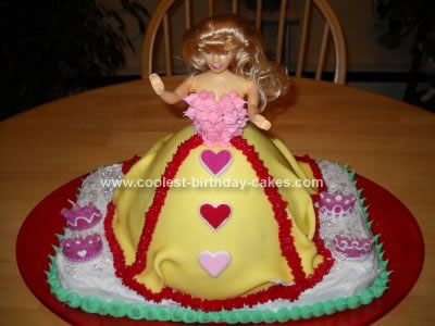 Homemade 4th Birthday Barbie Cake