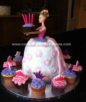 Homemade 4th Birthday Barbie Cake