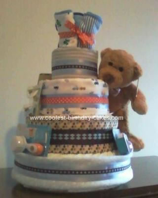 Homemade 5 Tier Deluxe Diaper Cake