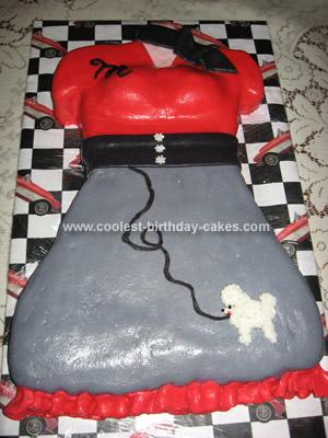 Homemade 50s Skirt Cake