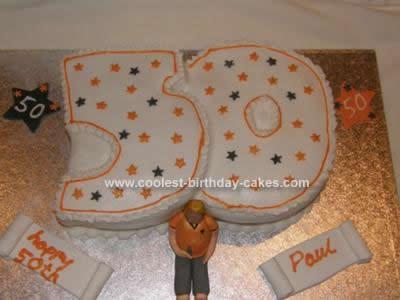 Homemade 50th Cake
