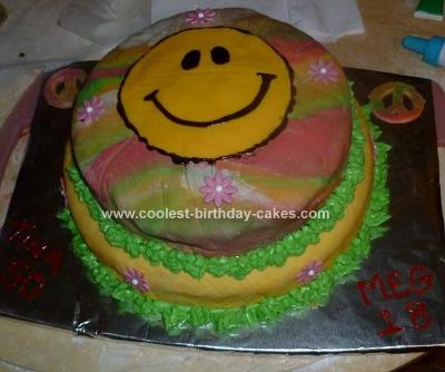 Homemade 60s/70s Birthday Cake