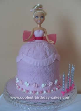 Homemade 7th Birthday Princess Doll Cake