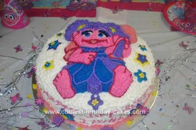 Homemade Abby Cadabby Birthday Cake