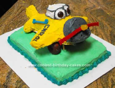 Homemade Airplane Birthday Cake