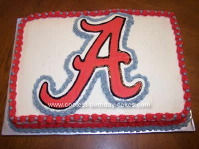 Homemade Alabama Crimson Tide Cake