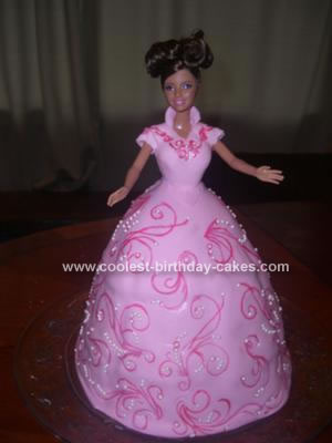Homemade All Fondant Barbie Cake