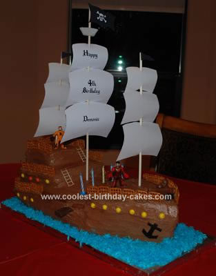 All Homemade Pirate Ship Cake