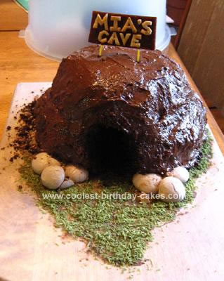 Homemade Allergen-Free, 99% Edible Cave Cake