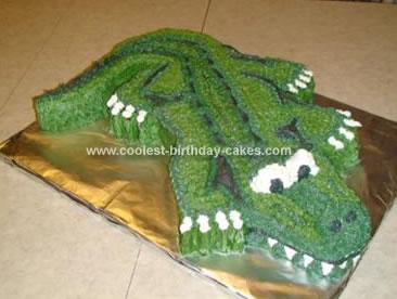 Homemade Alligator Birthday Cake