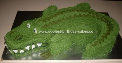 Homemade Alligator Birthday Cake